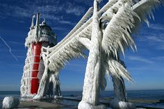 Nothing beats a light house covered in ice