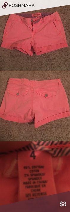 Neon Orange Aeropostale Shorts Twill Midi Shorts! Perfect Condition! Aeropostale Shorts Cargos