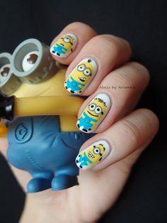 Minion Nails http://arvonka-nails.blogspot.sk/2013/08/minion-madness.html