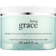 philosophy Living Grace Whipped Body Crème (260 EGP) ❤ liked on Polyvore featuring beauty products, bath & body products, body moisturizers, fillers, beauty, makeup, cosmetics, blue fillers and body moisturizer