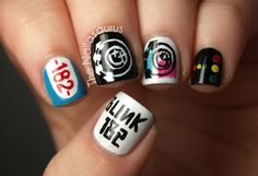 I have neither the time nor the patience, nor do I typically wear nail polish...but I love Blink 182 and this is pretty awesome!