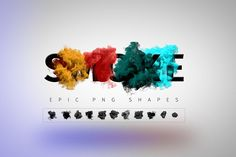 Smoke PNG Shapes by Kahuna Design on @creativemarket
