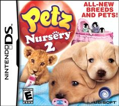 Nintendo DS Petz Nursery 2 by Ubisoft All new breeds and pets Nintendo Ds, Video Game Names, Video Games, Ds Games For Girls, Game Sales, Bear Cubs, Amazing Adventures, Best Graphics, Video Game Console