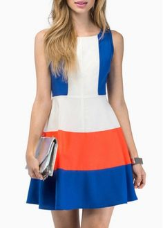 Attractive Color Block Sleeveless Zipper Closure Mini Dress on sale only US$31.25 now, buy cheap Attractive Color Block Sleeveless Zipper Closure Mini Dress at modlily.com