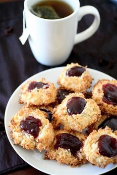 Coconut Jam Cookies | The Curvy Carrot