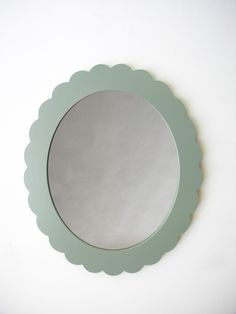 scalloped mirror <3   (many colors available)