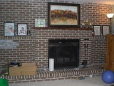 DIY Decor: Brick Fireplace Makeover Gemauerter Kamin, Backstein, Kaminofen,  Malerei, Ziegelkamin