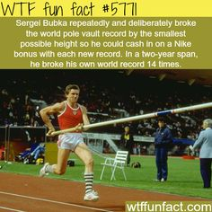 Sergei Bubka - WTF fun facts