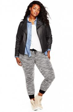 Elegant  Denim Joggers Outfit On Pinterest  Joggers Womens Joggers Outfit And