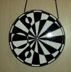 Black White Orb Crop Circle by ScapeShifter on Etsy