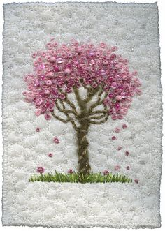 I'm always so in awe of embroidery and this took it to a new level.  Maybe some day I'll have the patience to try it myself.  This artist also has some cool bird nests she's embroidered.