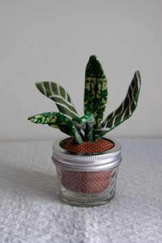 fabric aloe plant by Sian Keegan