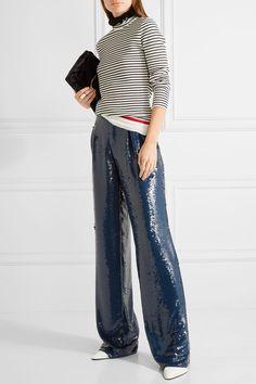 Sonia Rykiel sequined wide-leg pants