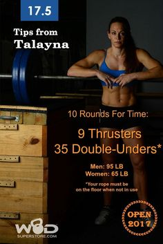 17.5 Crossfit workout guide and tips with Talayna! Check it out on the blog now!