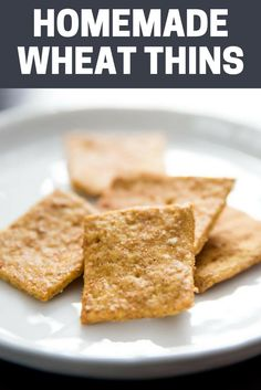 This isn't a recipe for any old cracker, it's a recipe for crisp and thin whole grain crackers that taste exactly like the kind you buy at the store.