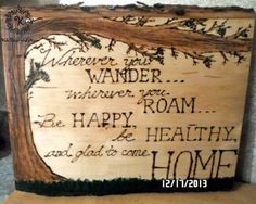 custom cabin quote wall hanging rustic décor cozy home woodburn handpainted gift