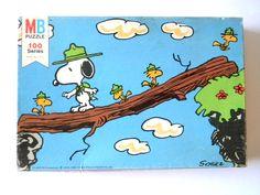1965 ? MB 100 Pieces Peanuts 108 Puzzle Milton Bradley Vintage Rare 4352-3
