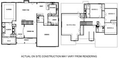 Two Level Floor Plans with Main Floor Master Suite
