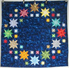 Many sizes of stars quilt