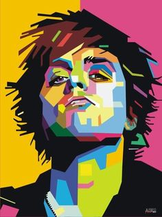 Billie Joe of Green Day pop art