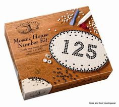 House of Crafts Mosaic House Number Kit Using the ancient craft of mosaics this superb kit contains all the materials to create your own magnificent