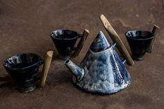 ceramic teapot and cups - Izabela Barańska