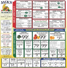 jacks fruit and meat market weekly ad dec 03 09