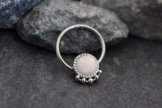Opal Captive Bead Ring