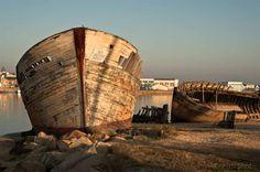Etrave de thonier au Magouër face au port d'Etel - Morbihan - Bretagne