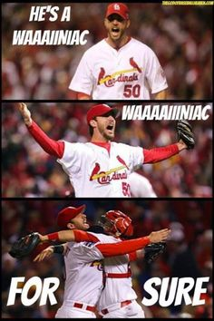 If Waino ever decides to retire from baseball, he's got a future in comedy.