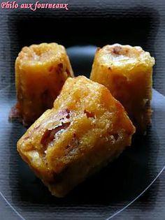 La meilleure recette de Cannelé au chorizo & au comté! L'essayer, c'est l'adopter! 4.2/5 (5 votes), 3 Commentaires. Ingrédients: Ingrédients pour 10 mini-cannelés : - 100 grs de chorizo - 130 grs de Comté râpé - 5 cuilléres à soupe de lait - 60 grs de beurre - 1 oeuf entier - 1 jaune d'oeuf - 5 cuillères à soupe de farine - Sel & poivre