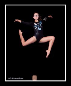 Awesome formal photography of a gymnast, combining elements / blended. Gymnastics