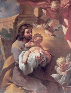 San José, custodio y protector de los corazones unidos y traspasados de Jesús y María, Inflamad mi corazón para que en él solo reine mi Dios, Jesús, como reinó en vuestro amantísimo Corazón.