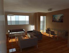 render room floor - render salón de un piso