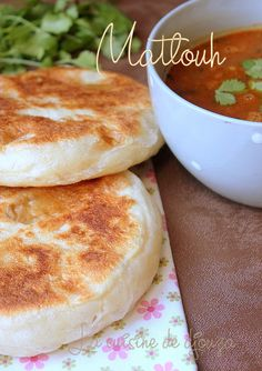 Arabic Recipes 98919 Very soft matlouh bun (tajine khobz) Quiche, Algerian Recipes, Salty Foods, Ramadan Recipes, Our Daily Bread, Home Baking, Coconut Recipes, Batch Cooking, Arabic Food