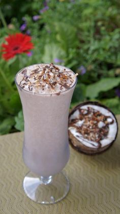 CHOCO COCO LOCO:     8oz Almond Milk  2 scoops Vi-Shape shake mix  1 Chocolate Mix-in (or 1 Tbsp Cocoa Powder)  ... 1 Tbsp Torani SF Coconut flavoring (or 1/2 Tsp Coconut Extract)  6 ice cubes and blend.