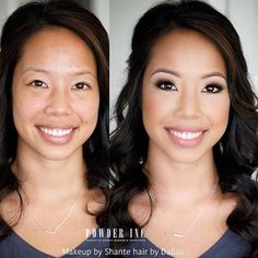 """{REPOST from @powderincmakep} """"Absolutely LOVE this makeup and hair. #powderinc artist Shante and my dear artist friend Dallas (who does contract work for Powder from time to time) created this BEAUTIFUL bridal look on stunning Anna today. We were all obsessed with her Natural beauty!! All our Vietnamese brides are GORGEOUS! Seriously!  """"  Always sparkling client's eyes with our pre-set (cluster) eyelash extensions.  ShopEyemimo.com/eyelash extensions"""