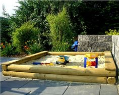 Sandkasten nach Maß cm-Genau nach Wunsch Rundholz Ø12cm Holz Sandkiste kaufen bei Hood.de