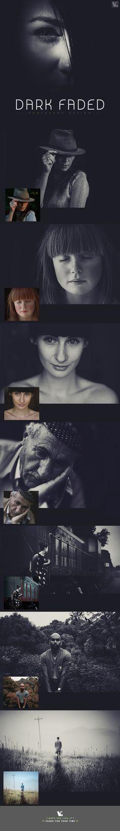 Dark Faded Photoshop Action — Photoshop ATN #dark action #dark film • Available here → https://graphicriver.net/item/dark-faded-photoshop-action/19425447?ref=pxcr