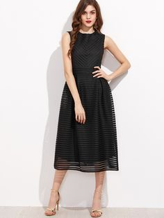 Shop Black Hollow Out Flare Sleeveless Dress online. SheIn offers Black Hollow Out Flare Sleeveless Dress & more to fit your fashionable needs.