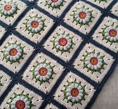 Crochet patchwork squares with
