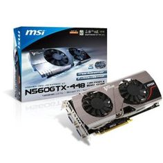 MSI N560GTX-Ti 448 Twin Frozer III PE/OC - NVIDIA GeForce GTX 560 Ti (448 Cores) PCI-E 16X Graphics Card