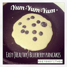 Here's a quick & easy recipe for this yummy fat loss friendly breakfast… INGREDIENTS: 1/2 cups oats or oat bran 4 egg whites 1/2 teaspoon vanilla extract 1-2 tablespoons Stevia (or to taste) 1/2 teaspoon cinnamon 1 teaspoon baking powder 1/4 cup fresh blueberries
