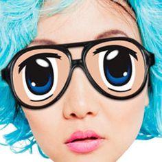 Anime Eye Glasses #anime #animeeyes #kawaii #cosplay #merchandise