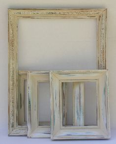 8x10 Random Wooden Rustic Frame  ONE Vintage distressed frame by The Picture Hook.  Ivory and cream picture frames for vintage weddings and rustic wedding decor!