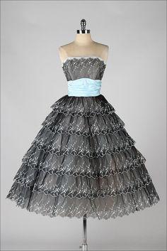vintage 1950s #partydress #romantic #feminine #fashion #vintage #designer #classic #dress #highendvintage