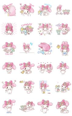 The princess of cute herself My Melody is back with animated stickers set in fields of wild flowers. Transform your chats into an adorable garden of delight!