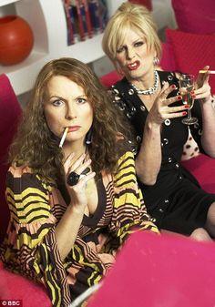 Jennifer Saunders and Joanna Lumley ~ British sitcom Absolutely Fabulous