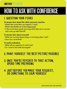How to ask with confidence - Unstuck's Best Advice of 2013