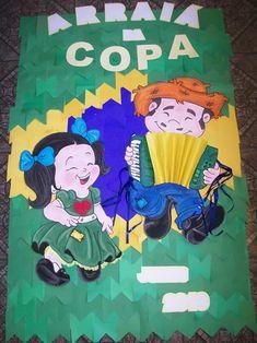 Decoração Junina para Copa do Mundo Grinch, Pop, Paper Ornaments, World Cup, Creativity, Bonfire Parties, Popular, Pop Music